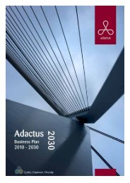 Business Plan 2010 - Adactus Housing Group Ltd