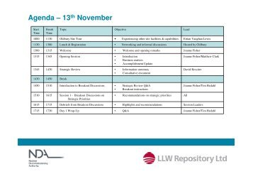 (Microsoft PowerPoint - Agenda \226 13th November)