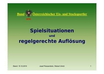 BÖE Spielsituationen - Bund Österreichischer Eis