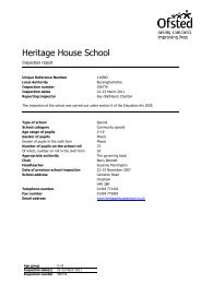 OFSTED inspection report - Hays