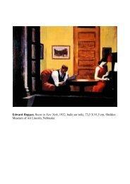 Edward Hopper, Room in New York, 1932, huile sur toile, 73,5 X 91 ...