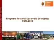 Programa Sectorial de Desarrollo Económico 2007 – 2012