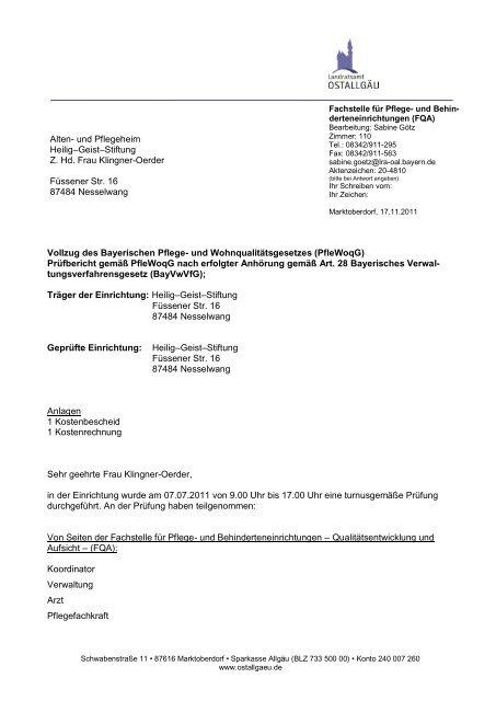 Alten- und Pflegeheim Heilig–Geist–Stiftung, Nesselwang
