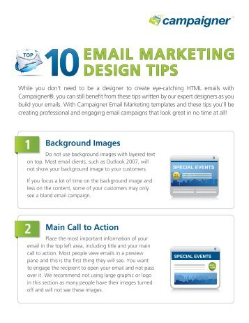 Top 10 Email Marketing Design Tips - Campaigner