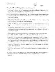 Worksheet 3-3 Half-life - Fulton County Schools