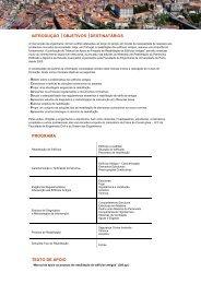 introdução objetivos destinatários programa texto de apoio