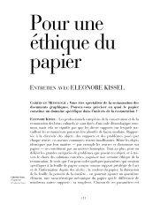 Pour une éthique du papier - Cahiers de médiologie