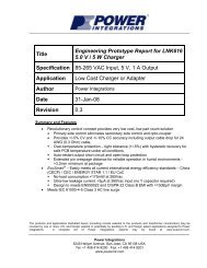 Title Engineering Prototype Report for LNK616 5.0 V / 5 W Charger ...