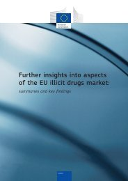 Further insights into aspects of the EU illicit drugs market - European ...