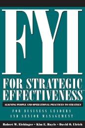 for strategic effectivenessfor strategic effectiveness - Lominger