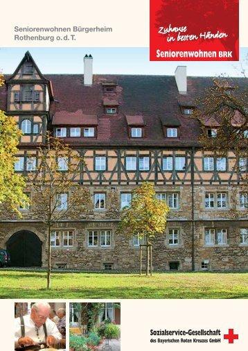 Seniorenwohnen Bürgerheim Rothenburg o. d. T. - Sozialservice ...