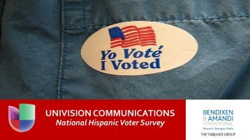 Univision Hispanic Electorate Poll