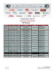 mise à jour 24 juillet 2013 06F Renards - La Zone ASB