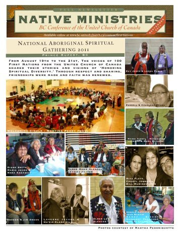 Issue 8 (September 2011) - BC Conference - The United Church of ...