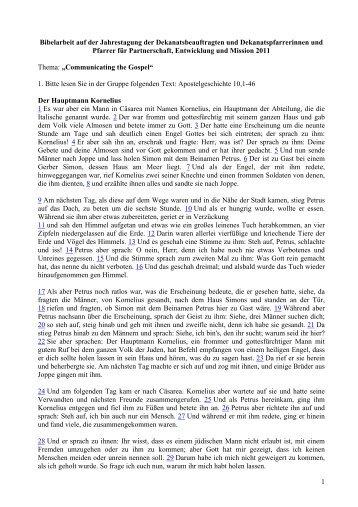 18. Bibelarbeit Ndoma - Mission Einewelt