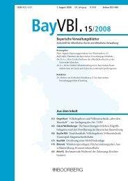 BayVBl - Richard Boorberg Verlag