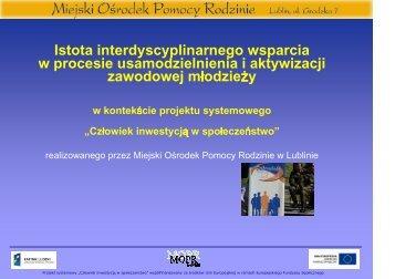 prezentacja - Zofia Rosolowska (MOPR) - Miejski Ośrodek Pomocy ...