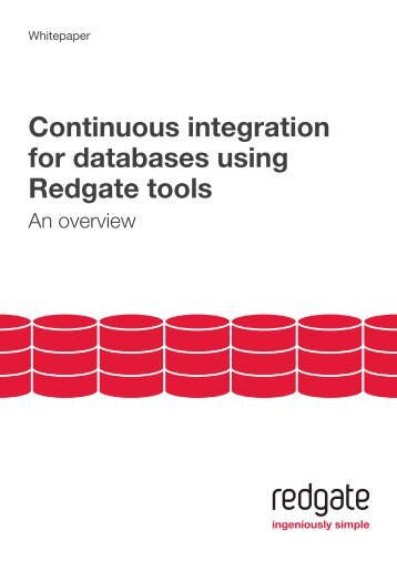 Continuous integration for databases using Red Gate tools