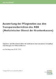 Auswertung MDK Berichte - Odenwaldkreis