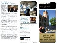 Reach Your Peak Scholarship - University of Colorado Foundation
