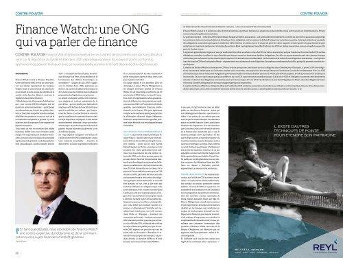 Télécharger l'article en pdf - Finance