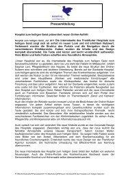 Pressemitteilung herunterladen - Stiftung Hospital zum Heiligen Geist