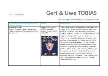 Gert & Uwe TOBIAS - Programme de terminale - FRAC Auvergne