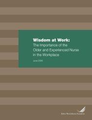Wisdom at Work: - Robert Wood Johnson Foundation