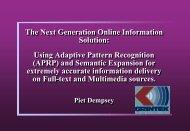 Using Adaptive Pattern Recognition (APRP) - SAOUG