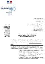 Note de service n°4 / 2010 – 2011 Animations ... - IEN Le Blanc