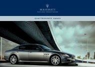 to download the Quattroporte Range brochure ... - Maserati Australia