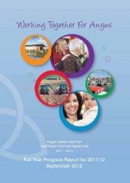2011/12 Full Year Performance Report - Angus Community Planning