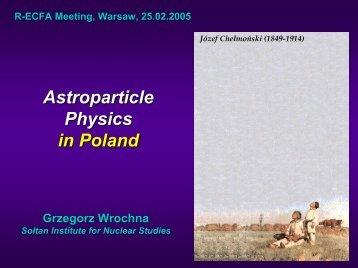 Astrophysics, gamma bursts - Warsaw HEP Group