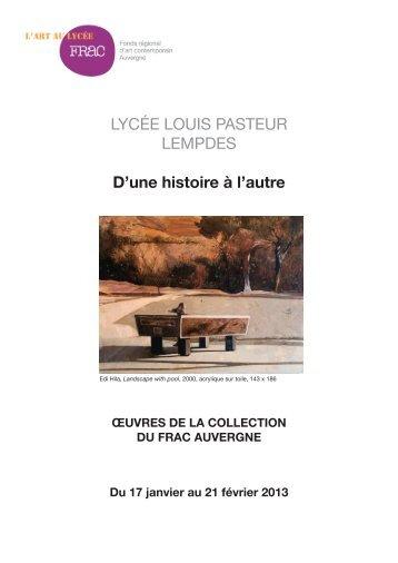 D'une histoire à l'autre - FRAC Auvergne