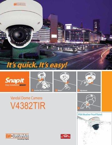 DWC-V4382TIR Spec Sheet - 123SecurityProducts.com