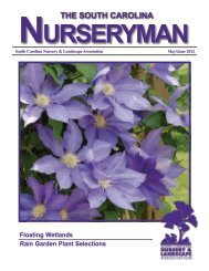the south carolina - South Carolina Nursery & Landscape Association