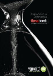 Organisation to Organisation Booklet - Volunteer Now