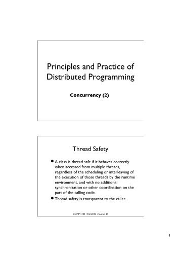 Principles and Practice of Distributed Programming