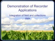 Demonstration of Recorder Applications - Extranet