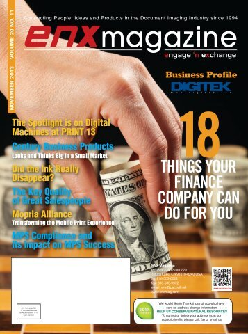 November 2013 PDF Issue - ENX Magazine