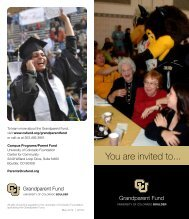 You are invited to... - University of Colorado Foundation