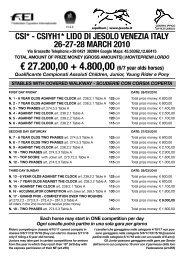 € 27.200,00 + 4.800,00 (6/7 year olds horses) - Cavalcando
