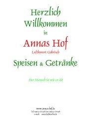 Speisekarte als PDF - Sächsischen Schweiz, Elbsandsteingebirge