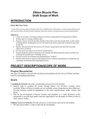 Elkton Bicycle Plan Draft Scope of Work ... - Wilmapco