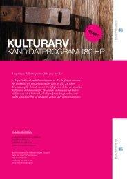 KULTURARV - Institutionen för historiska studier
