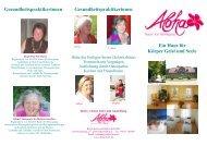 Haus für körper Geist und Seele - bei Aloha
