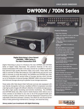 DW900N / 700N Series - publiclibrary.dwcc.tv