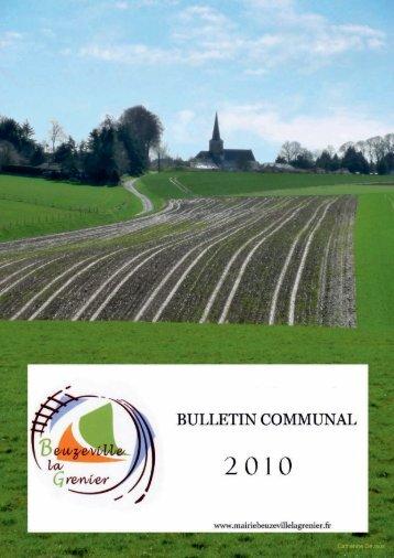 Le bulletin communal paru en janvier 2011 - Bienvenue à ...