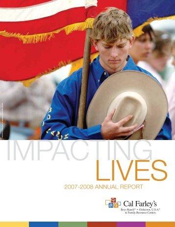 2007-2008 ANNUAL REPORT - Cal Farley's