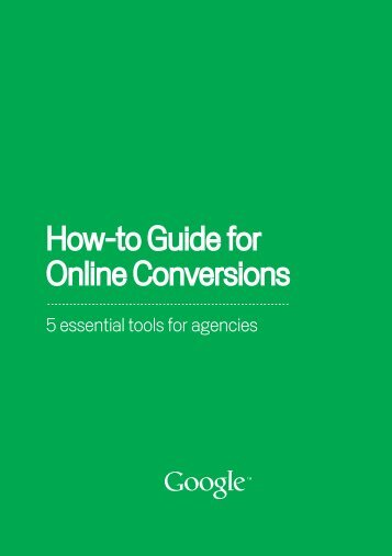 How-to Guide for Online Conversions - Dealer